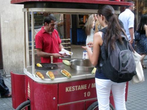 Misir / Kestane Cart in Istanbul
