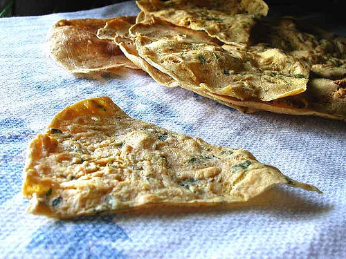 Chickpea flatbread from France: Socca