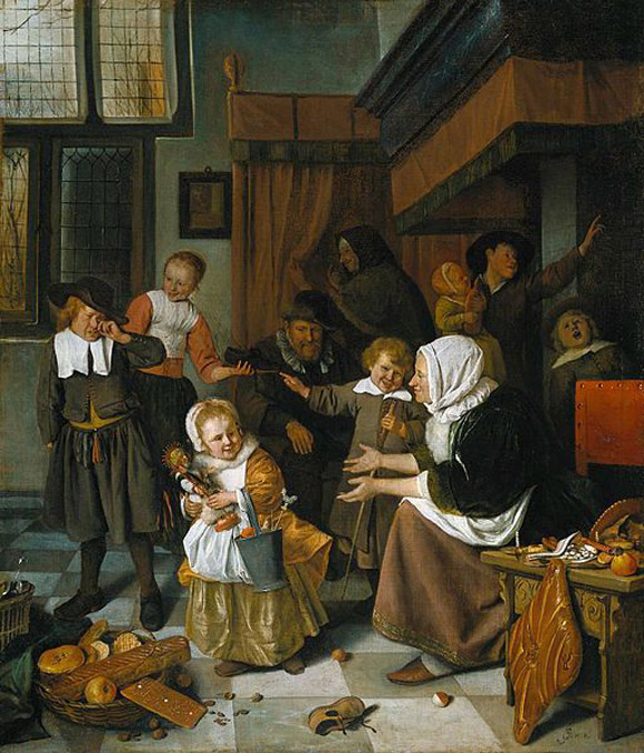 Jan Steen - Het Sint Nicolaasfeest