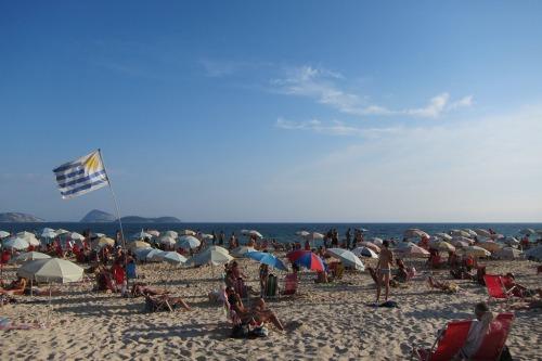 Ipanema Beach - Uruguayan Flag