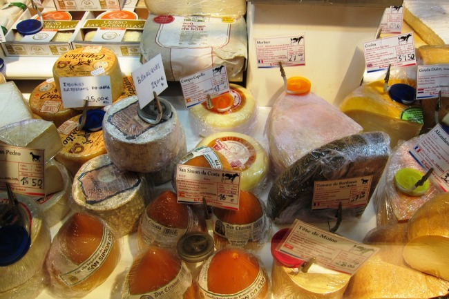 A variety of Spanish Cheeses