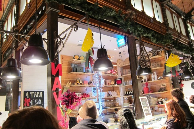 Cheese shop in the market