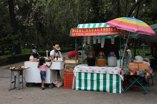 Aguas Frescas for sale in Mexico City