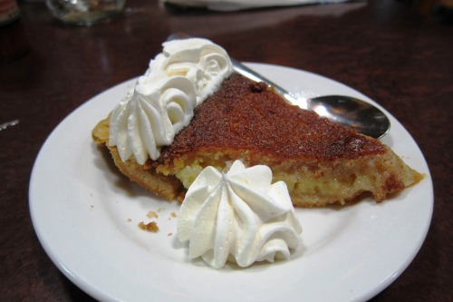 The famous Buttermilk Pie