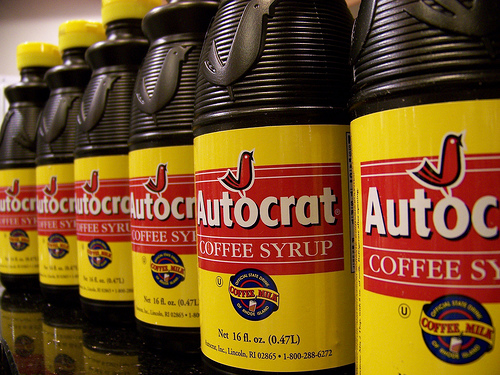 Coffee Syrup - a key component of a Rhode Island Coffee Milk