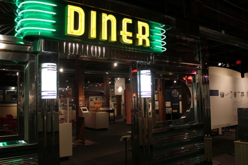 Diner sign at Johnson and Wales Culinary Museum in Providence