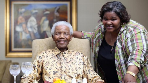 Nelson Mandela and his chef Xoliswa Ndoyiya