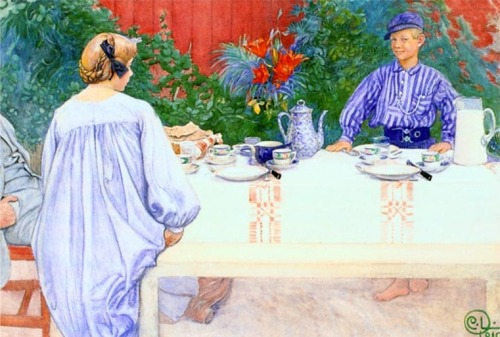 """At the Breakfast Table"" by Karl Larsson"