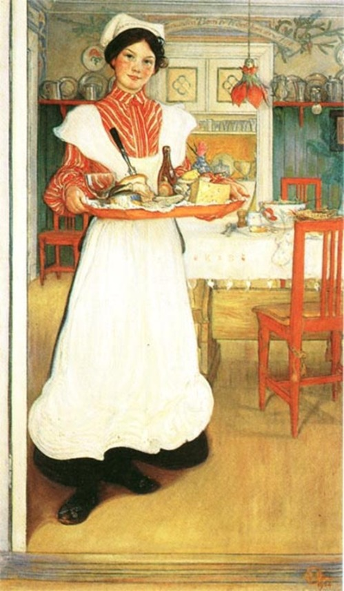 """Martina With Breakfast Tray"" by Carl Larsson"