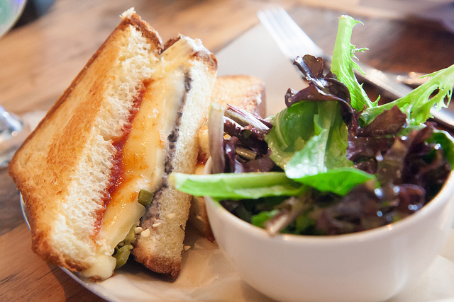 Gouda and Black Bean Grilled Cheese